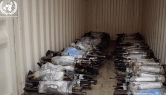 Armas entregadas por las FARC en Colombia
