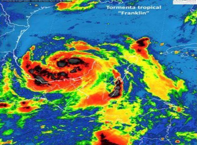 Avance de la tormenta tropical 'Franklin'
