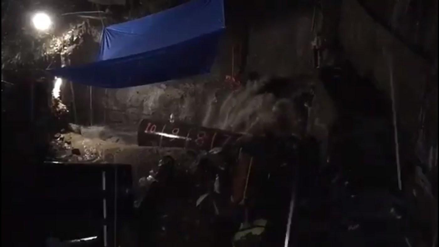 Barranca de Santo Cristo afectada por lluvias