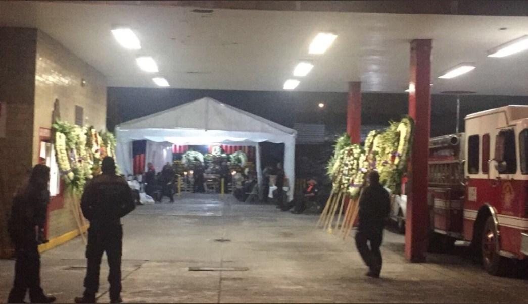 bomberos de la cdmx realiza homenaje a bombero cecilio pineda