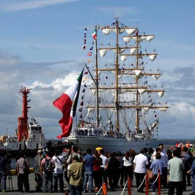 Llega a Filipinas por primera vez el buque escuela Cuauhtémoc