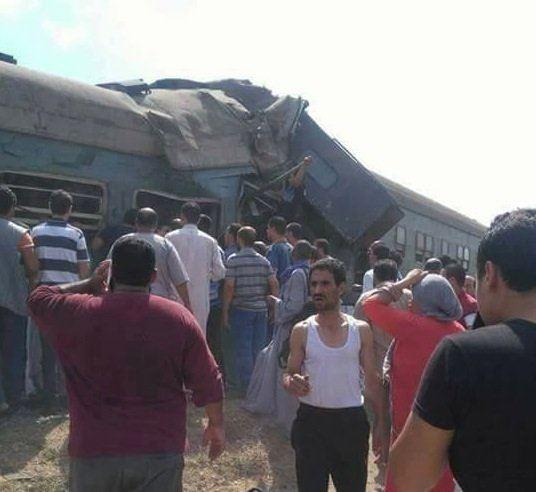Chocan dos trenes en Egipto; hay al menos 21 muertos