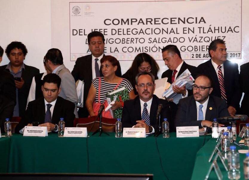 Concluye Comparecencia Delegado Tlahuac Asamblea Legislativa