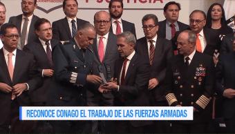 Conago reconoce el trabajo de las fuerzas armadas mexicanas