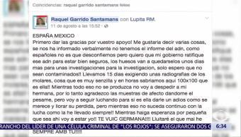 Confirman Muerte Española Pilar Garrido