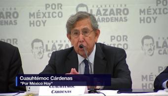 Cuauhtémoc Cárdenas presenta proyecto Por México