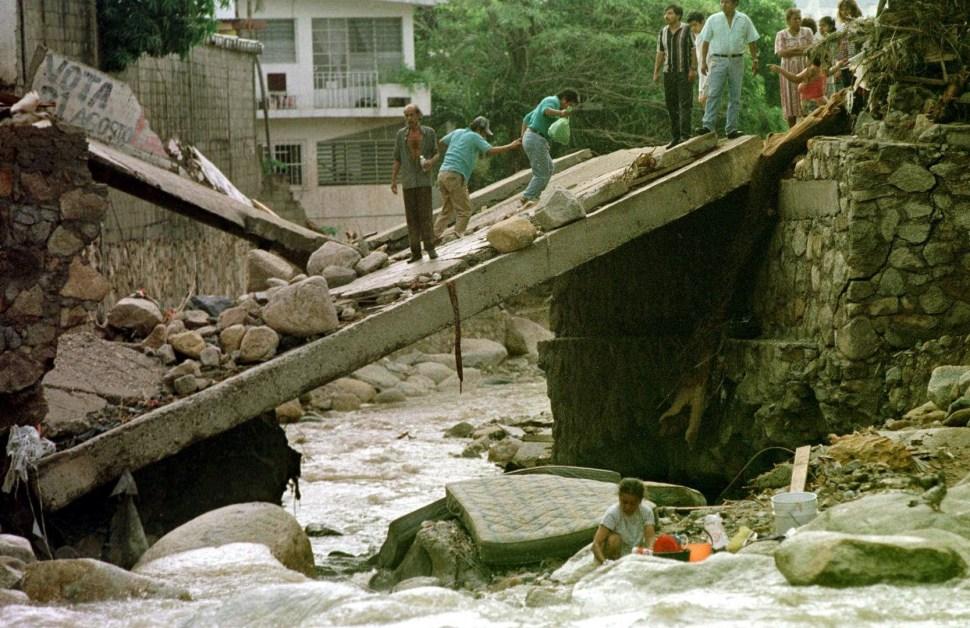 Daños tras el paso del huracán 'Paulina' en Guerrero, México