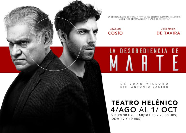 Desobediencia, Marte, Fin de Semana, teatro, Centro Cultural Helénico, CDMX