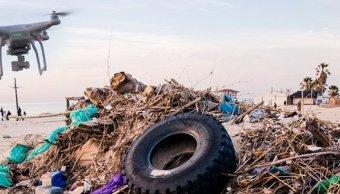 Drones monitorearán playas mexicanas para clasificar residuos