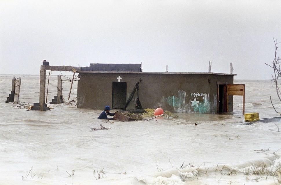 Efectos del paso del huracán Gilberto