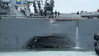 El el destructor USS John S. McCain sufrió danos