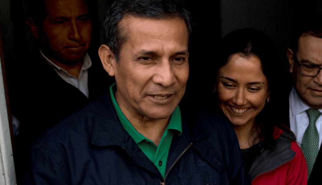 El expresidente de Perú Ollanta Humala y su esposa Nadine Heredia