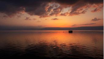 El mar de Galilea, en Israel