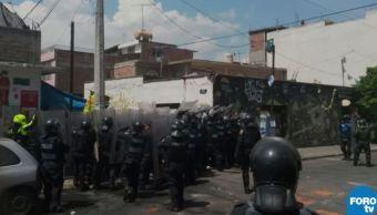 enfrentamiento entre policias y mototaxis xochimilco