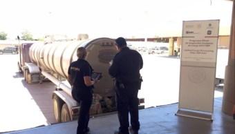 Autoridades de Mexico y Eu inspeccionan mercancias