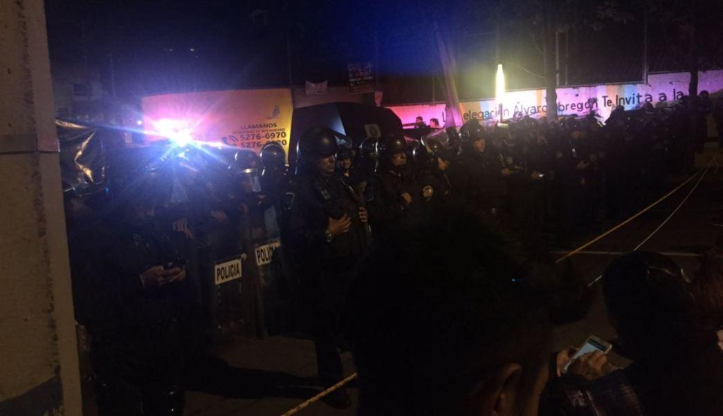 granaderos impiden marcha delegacion alvaro obregon