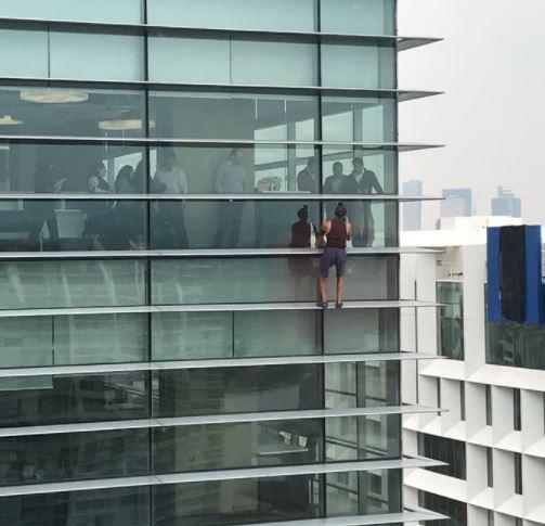 'Spider-Man' visto en Polanco es ruso y fue detenido
