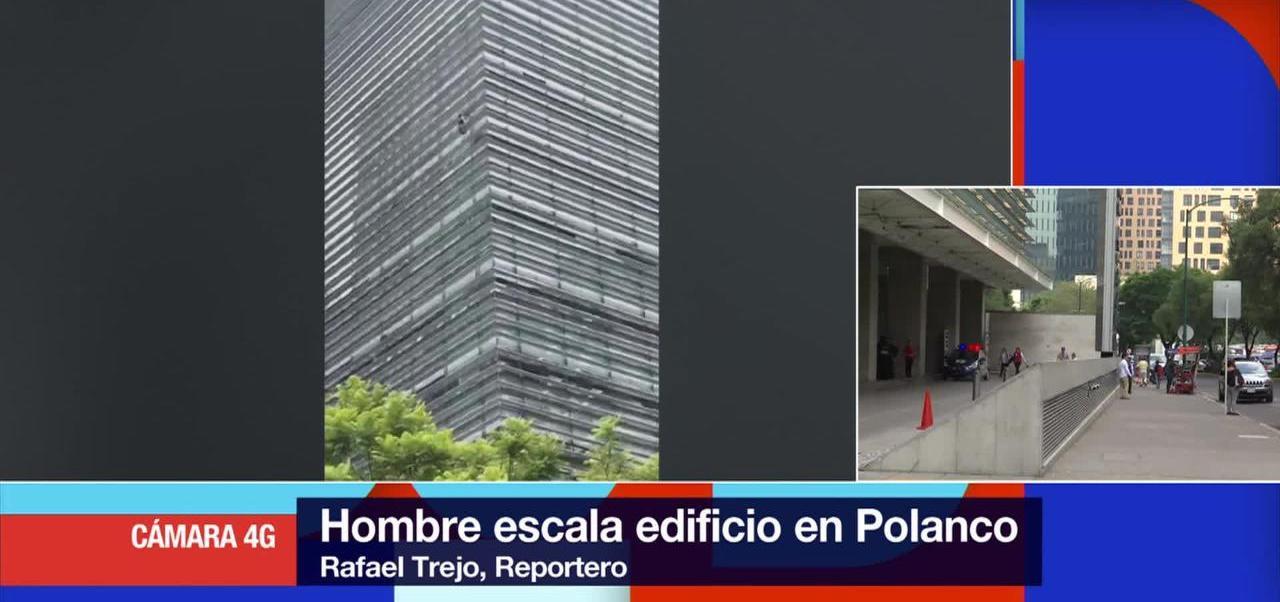 Hombre que escaló edificio en Polanco fue detenido