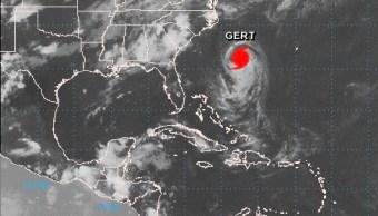 Tormenta tropical Gert se convierte huracan Atlantico
