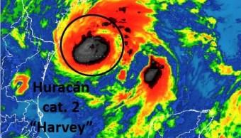 huracan harvey intensifica categoria 2 tamaulipas