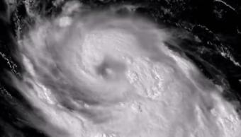 Imagen satelital del huracán Gert