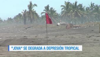 'Jova' se degrada a depresión tropical en el Pacífico