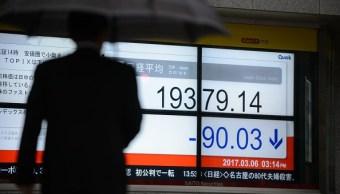 La Bolsa de Tokio cerró con una pérdida moderada