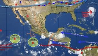 mapa con el clima para este 15 de agosto