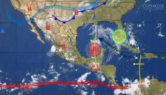 mapa con el clima para este 23 de agosto
