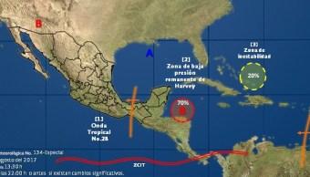 Se prevén lluvias en Q. Roo y Yucatán por zona de inestabilidad
