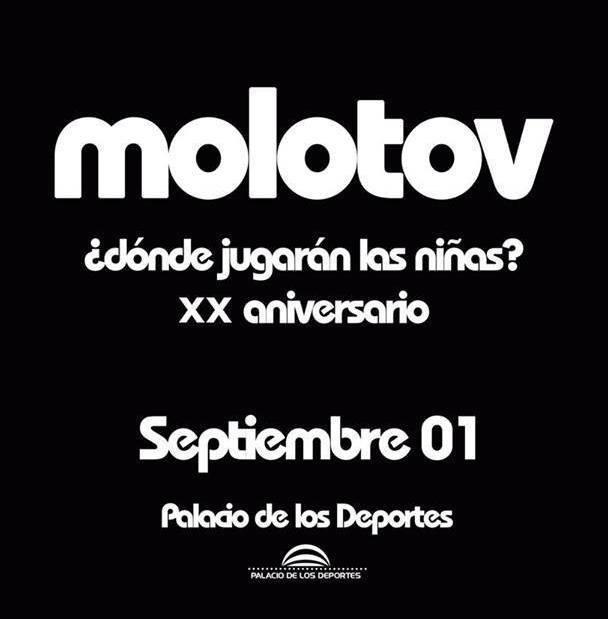 Molotov Palacio de los Deportes concierto 20 años