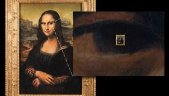 Venden réplica falsificada de Mona Lisa con imagen microscópica en su pupila