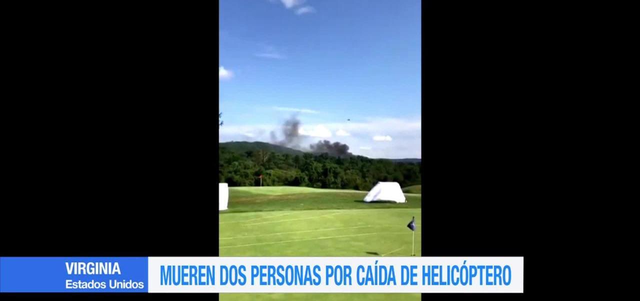 Mueren dos personas por caída de helicóptero en Virginia