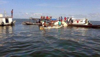 Naufragio deja 10 muertos y desaparecidos rio Xingu Brasil