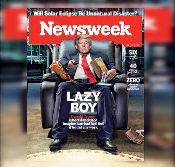 Revista Newsweek retrata a Donald Trump como 'Chico Flojo'