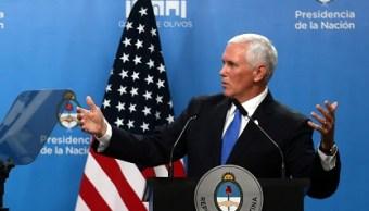 Maduro está oprimiendo al pueblo venezolano: Mike Pence