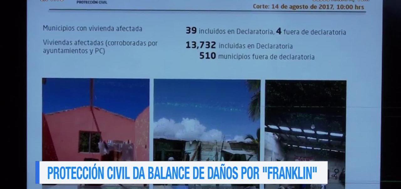 Protección Civil Veracruz Balance Daños Franklin