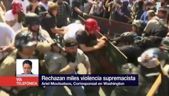 Rechazan, miles, violencia, supremacista