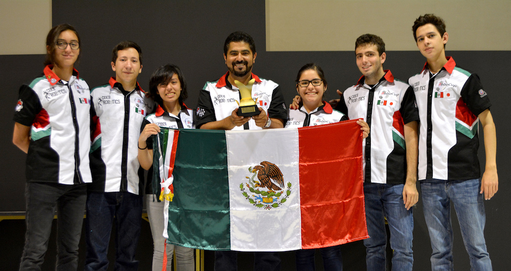 mexicanos campeones, Nuevo León, robótica, robocup