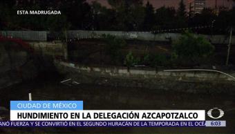 registra, hundimiento, Azcapotzalco, CDMX