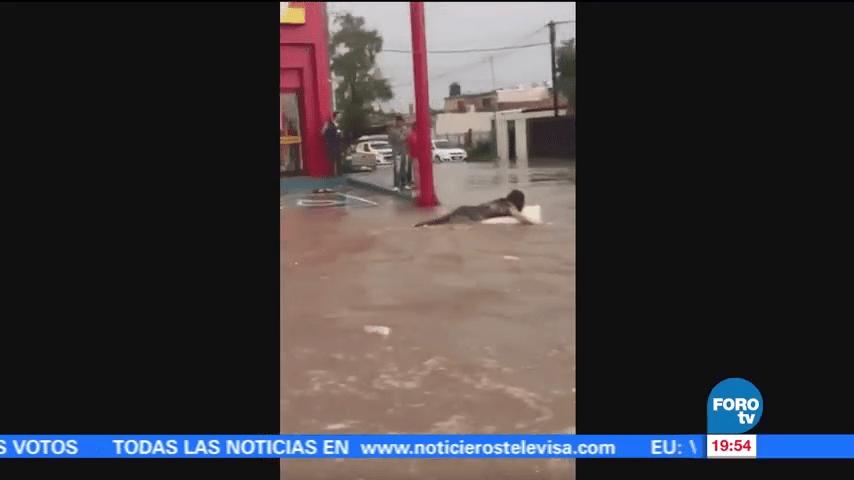 Se registra intensa lluvia en Hermosillo, Sonora
