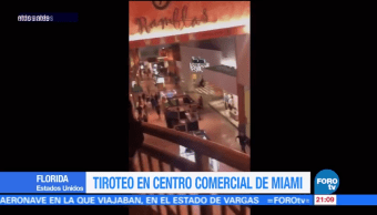 Se registra tiroteo en centro comercial de Miami