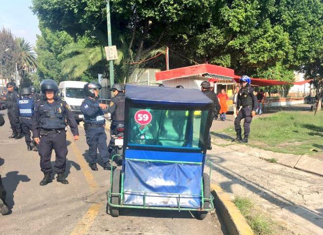 Operativo retiro moto-taxis delegación Venustiano Carranza