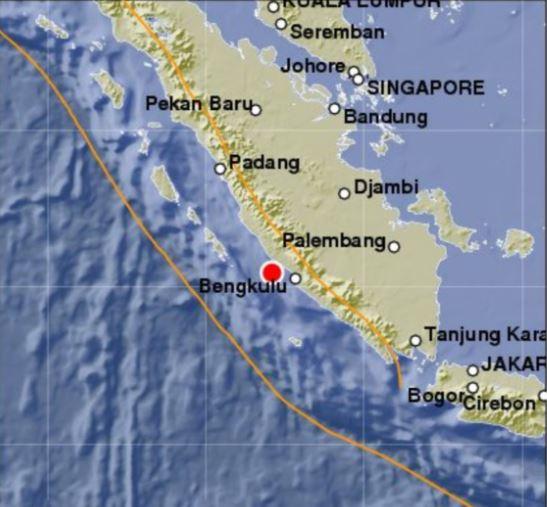 sismo golpea isla sumatra en indonesia