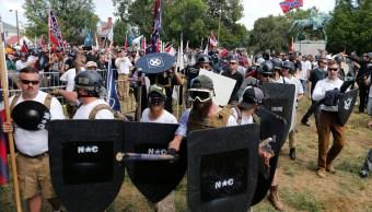 Supremacistas protestan en Charlotesville, Virginia, en Estados Unidos