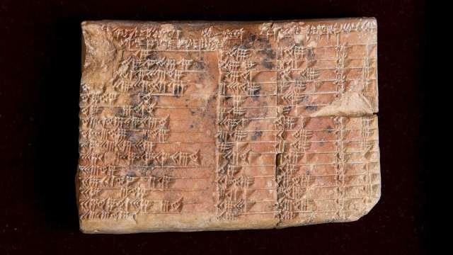 Tablilla Plimpton 322 usada por babilonios