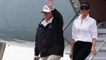 Melania Trump no da descanso a la moda en zonas de inundaciones