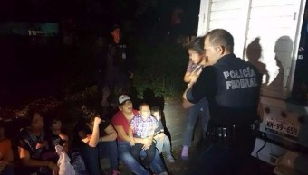 aseguran migrantes centroamericanos carretera pozarica veracruz