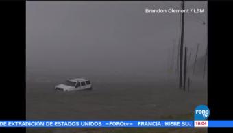 Video de una persona arrastrada previo a la llegada de Harvey