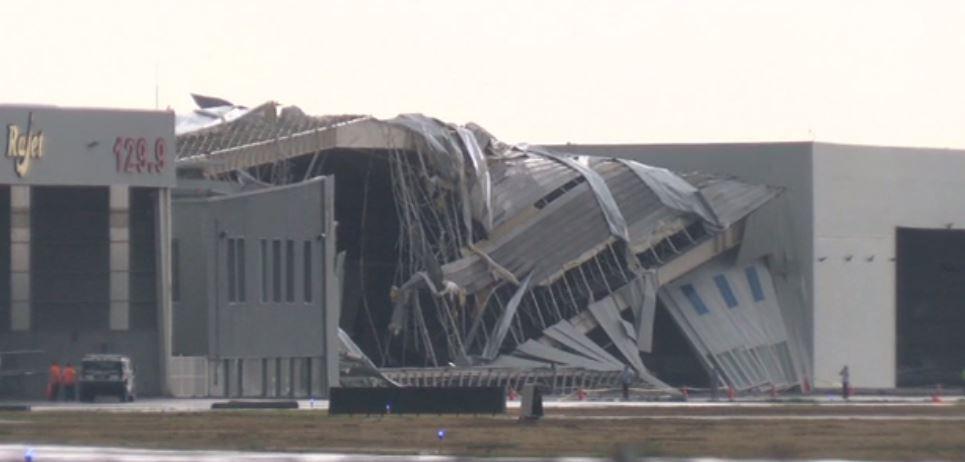 Vientos afectan el Aeropuerto del Norte en Monterrey (Noticieros Televisa)
